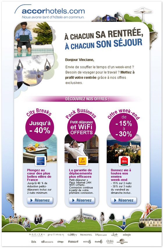 Francois Soulignac - Accor Hotel Newsletter