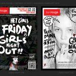 Francois Soulignac, Bar Rouge Shanghai, New flyers branding, Art Direction, Mock-up researches V2