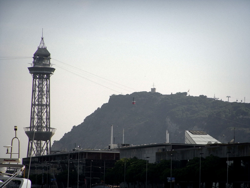 Francois Soulignac - Montjuic Cable Car tower & Montain, Barcelona port, Spain