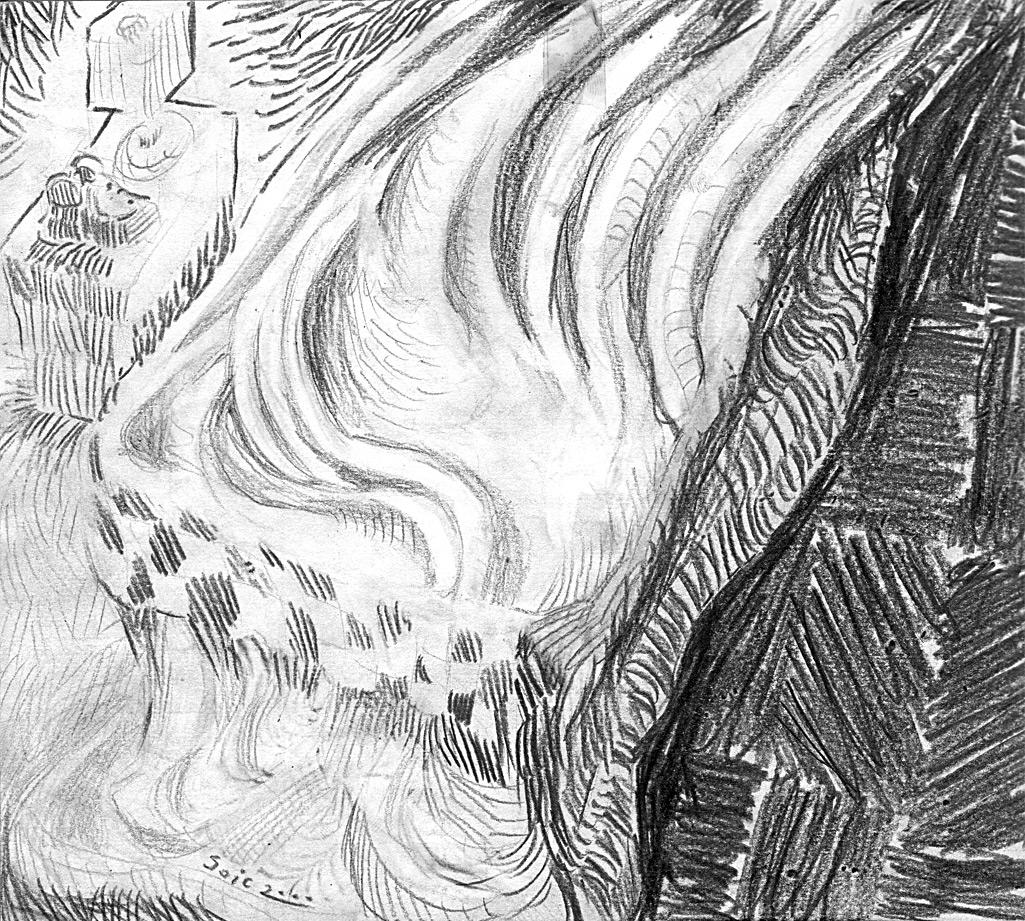 Francois Soulignac - Croquis crayon - Pencil sketch BED