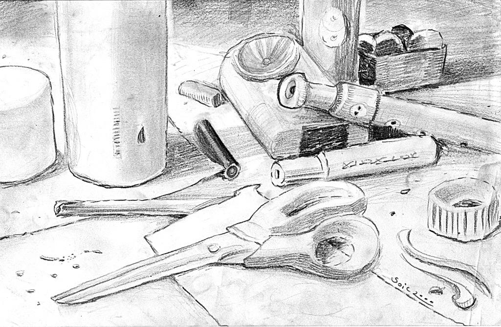 Francois Soulignac - Croquis crayon - Pencil sketch WORKPLAN