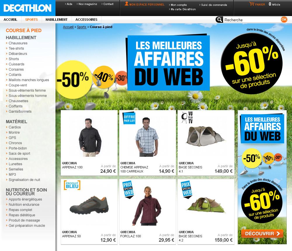 Francois Soulignac - Decathlon Eshop - Special offers page