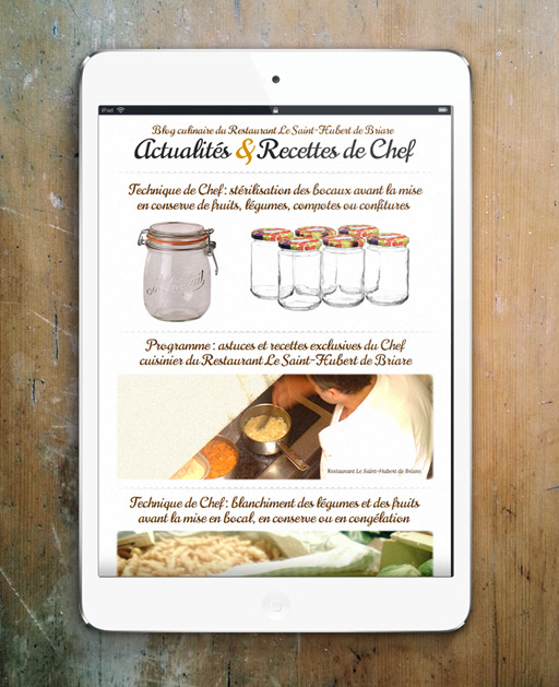 Francois Soulignac - Brand content for restaurant - Recipes