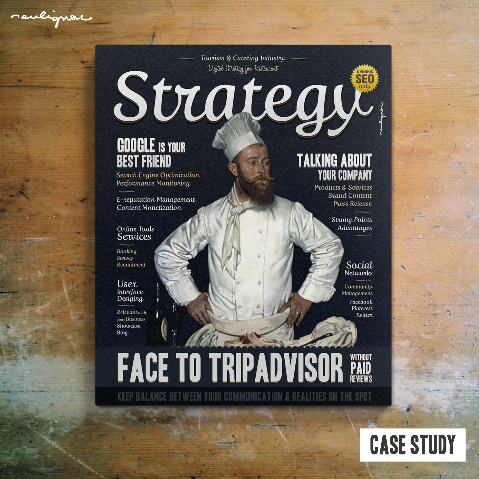 François Soulignac : Web/Digital Art Director - Digital Strategy for Restaurant (Case study)