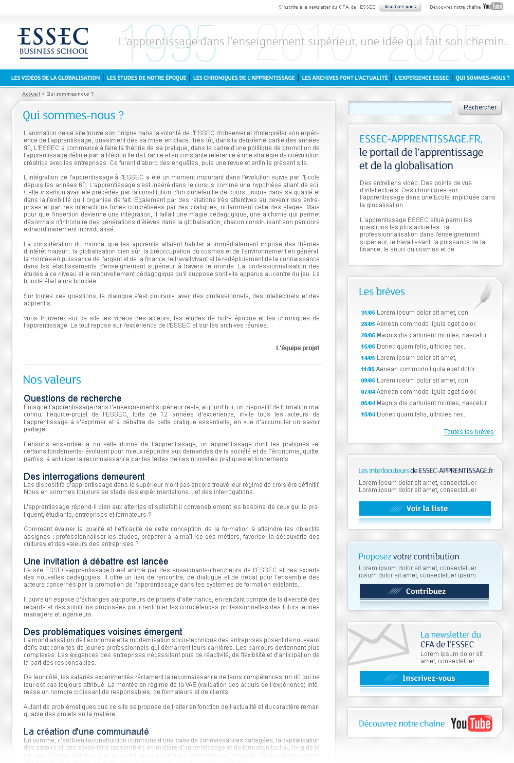 ESSEC Business School | Website - ABOUT