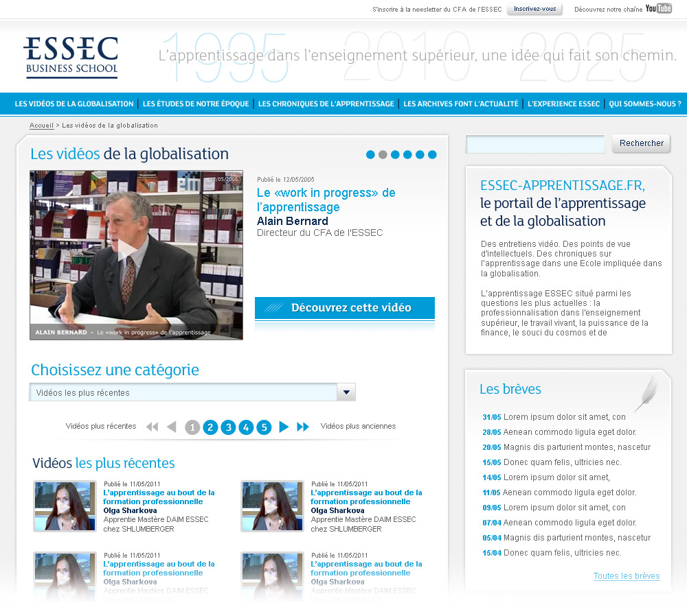ESSEC Business School | Website - Videos Page (list version)