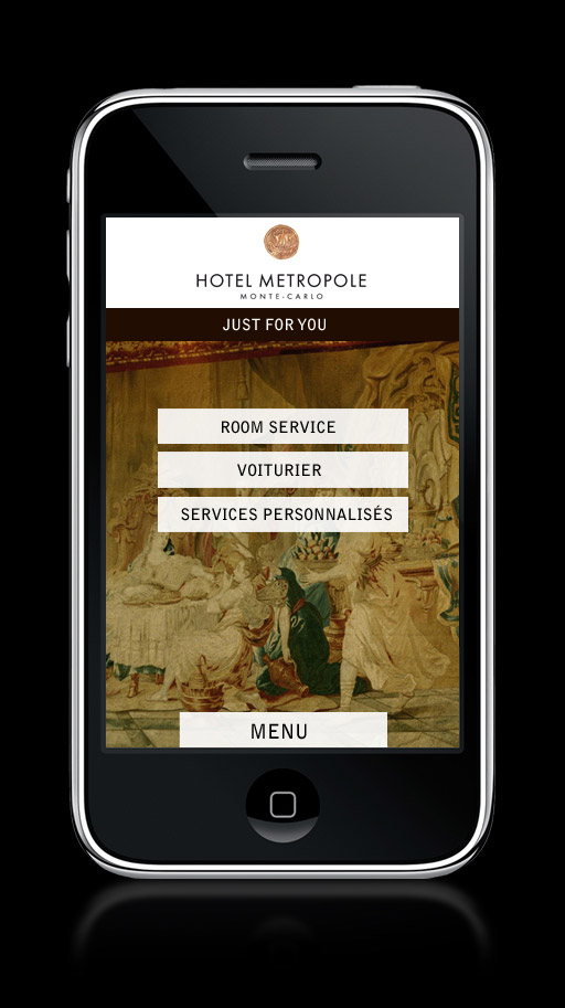Francois Soulignac - Mobile App Hotel Metropole Monte-Carlo - JUST FOR YOU