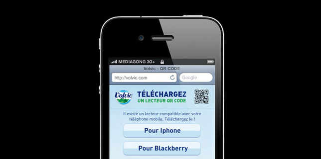 Francois Soulignac - QR Code Mobile Application Volvic (Danone)