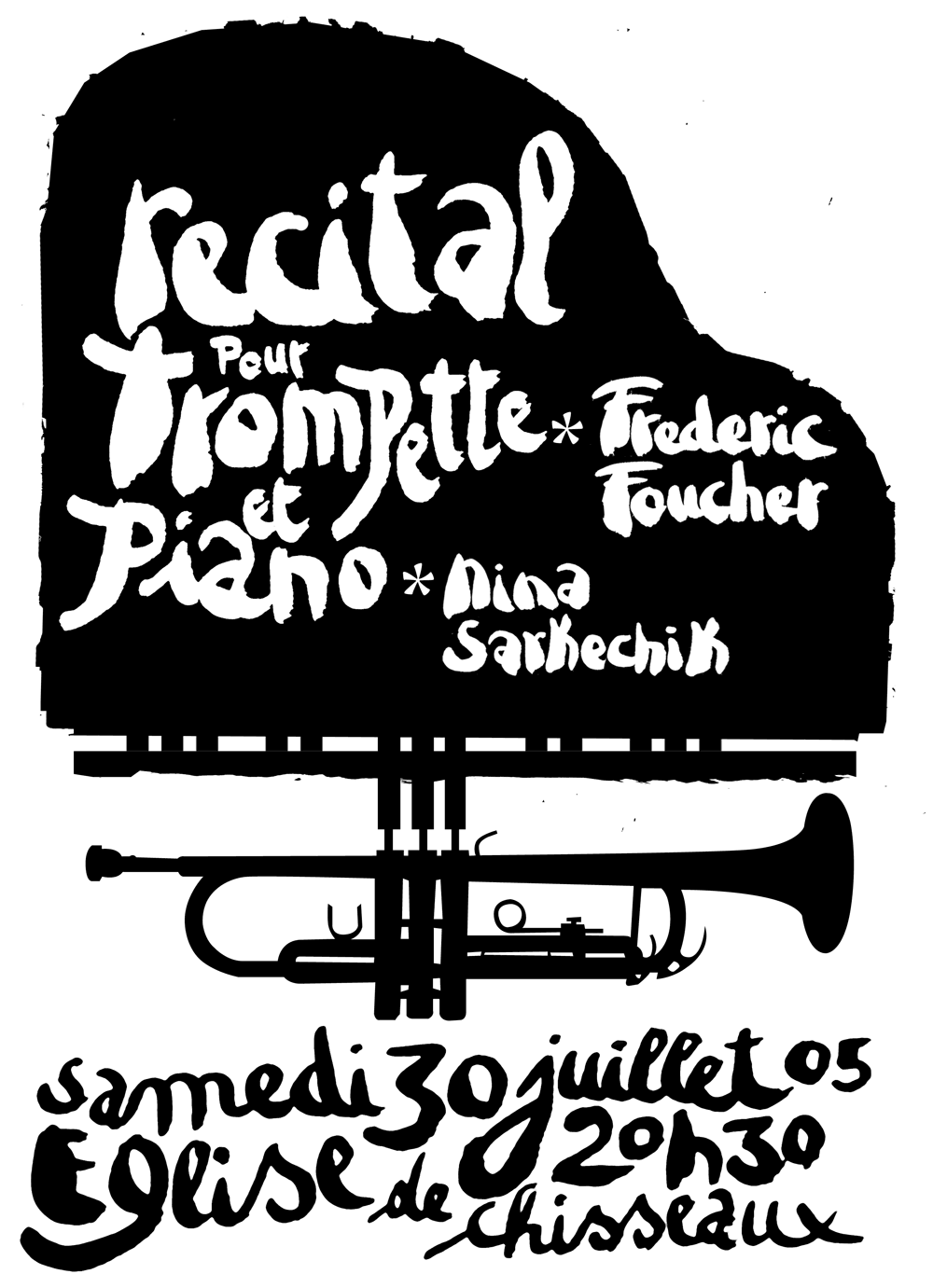 Francois Soulignac - Poster Recital Piano Trumpet - Nima Sarkechik and Frederic Foucher