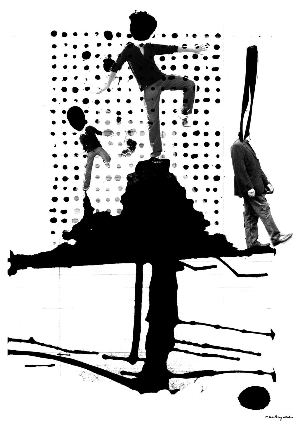 Francois Soulignac - Revue Jeunèse Paris 8 - Poster BALANCE