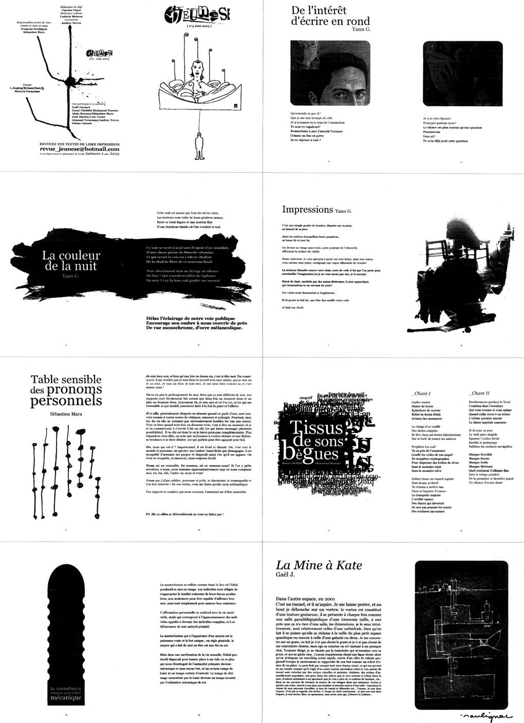 Francois Soulignac - Revue Jeunèse - Université Paris 8 - University of Paris 8 - Chemin de fer du n°3 (juin 2003)