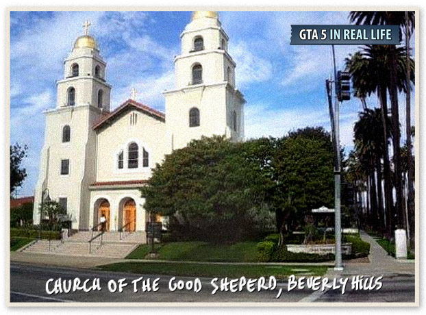 Gta in real life - Los Angeles - Church of the Good Sheperd Beverly Hills
