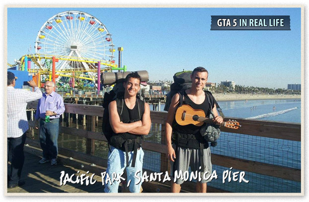Gta in real life - Los Angeles - Pacific Park Santa Monica pier