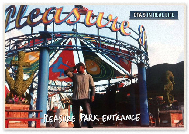 GTA 5 in Real Life - Los Santos - Pleasure Park entrance
