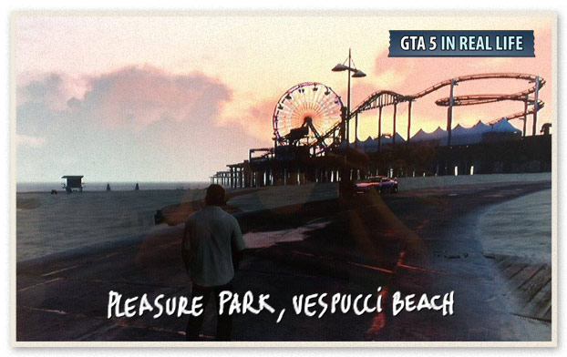 GTA 5 in Real Life  - Los Santos - Pleasure Park Vespucci beach