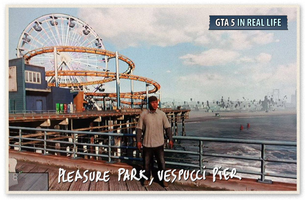 GTA 5 in Real Life - Los Santos - Pleasure Park Vespucci pier