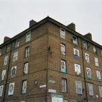London Street art, Haggerston Estate, Hackney, 'I am Here' Project