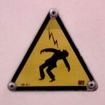 Sad things on the Streets of Paris, Pictogramme attention électricité danger de mort