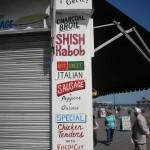 New York Shop sign menu at Coney Island