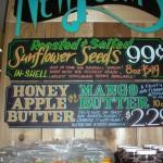 Sunflower seeds and honey apple/mango butter brand market at Trader Joe's market (130 Court Street, Brooklyn)