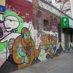 New York Mexican Street art (graph painting) at Brooklyn (Montrose Av station)
