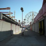 New York architecture, Closed Luna Park (amusement park) at Coney Island (Long beach)