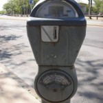 Parking meter (Parcmètre or parcomètre in french) at Coney Island (Long beach)
