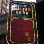 New York title sign, The House of Blue, Walter Kerr Thatre