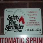 Fireman sign : Safety Fire Sprinkler
