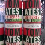 Design from Paris, Boite de Tomates entières pelées au jus, Monoprix