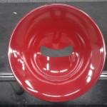 Design from Paris, Siège de métro en cercle rouge metal, Seat Subway red