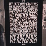 Paris Graphic Design | Affiche We Are Paris We Never Die - Cover Cyrcle