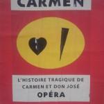 Paris Graphic Design | Affiche minimaliste, Carmen, Les concerts de poche, Opéra Itinérant