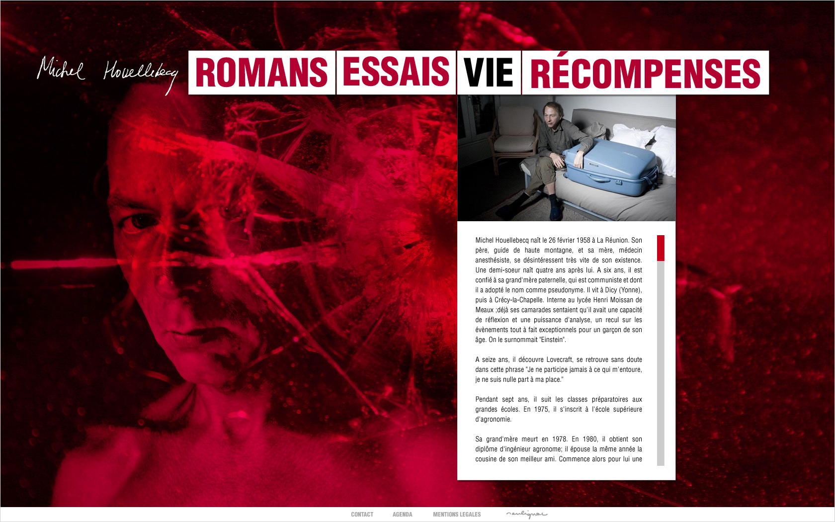 © François Soulignac - Michel Houellebecq (Website)