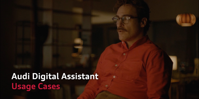 Audi China - Digital Assistant Researches - Art direction for video storyboard summarizing the researches - Joaquin Phoenix in HER by Spike Jonze - Francois Soulignac, MADJOR Labbrand Shanghai, China