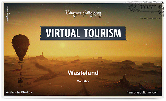 Virtual Tourism in the desert of Wasteland (Australia & Nabimia) - Aerial views in Mad Max. In-game photography. © Avalanche Studios - François Soulignac