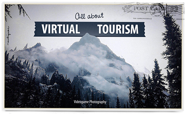 Francois Soulignac - All about Virtual tourism - Skyrim - Vintage postcard