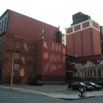 Boston parking, Friend street and Valenti way, Onyx Hotel, street art