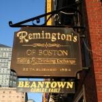 Boston Shop Sign - Remington's of Boston