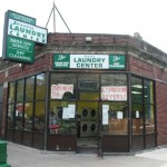 Jersey Laundry Center Old vintage Store Front, Boston