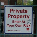 Elements and Specifics Details - private Property - Enter at your own risk sign