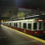 Boston Subway - MBTA red line - arrival of the train step 02