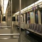 Boston Subway - MBTA red line - Inside metro car