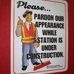 Boston Subway - MBTA - Please pardon our appearance while station is under construction