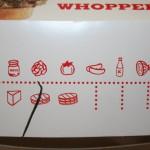 Massachusetts packaging - Nutrition facts Whopper Box Burger King