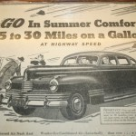 Boston Graphic Design, Old Vintage Nash Adversiting, Go In Summer Comfort, 25 to 30 Miles on a Gallon at highway speed