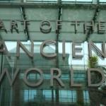 Museum of Fine Arts MFA Boston - Art of the Ancient World sign door