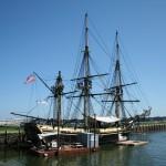 Francois Soulignac - Salem MA - Old boat on harbor