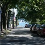 Francois Soulignac - Salem MA - Street with sunshine and tree shadows