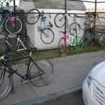 Francois Soulignac - Streets of Boston - Bikes on the wall